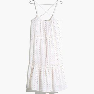 NWT Tiered Cover-Up Dress in Rainbow Clipdot